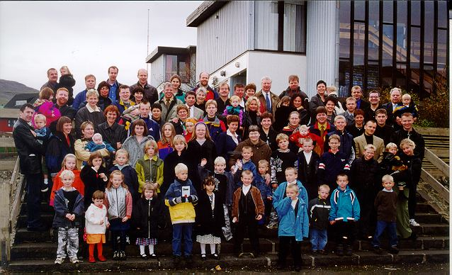 På færøerne til en stor familiefest til minde om ham